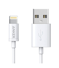 AmazonBasics Apple Certified Lightning to USB Cable - 6 Feet (1.8 Meters), White