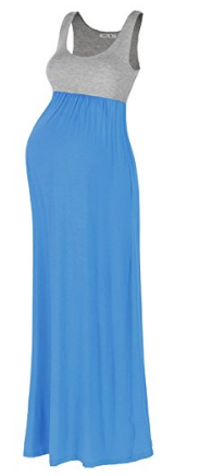 Beachcoco Maternity Contrast Maxi Tank Dress.png