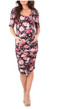 Mother Bee Women's Ruched Maternity Dress.png