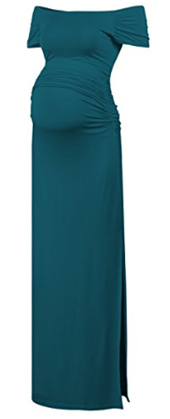 BlackCherry Short Sleeve Maternity Casual Maxi Dress.png