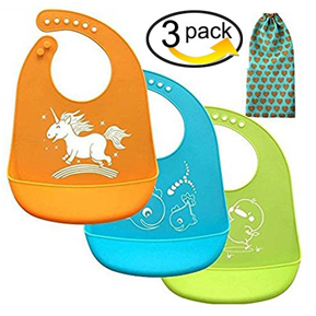 Baby bibs Comfortable Soft Silicone Baby Bib (Blue/Orange/Green) - Dream Loom