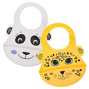 Animal Friends Silicone Baby Bibs - Walabi